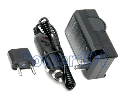 Compact Charger for Canon NB-4L +euro +car