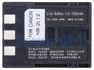BP-2L12 battery for Canon Li-Ion 7.2V 1500mAh