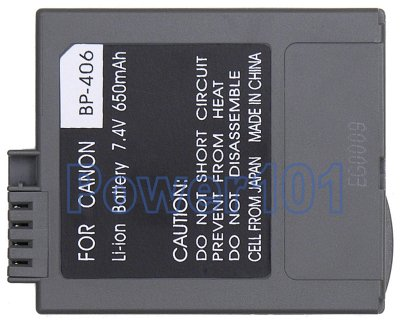 Canon Elura 2 MC BP-406 Camcorder Battery