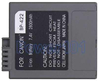 BP-422 battery for Canon Li-Ion 7.4V 2800mAh