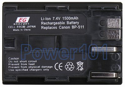 BP-511 battery for Canon Li-Ion 7.4V 1500mAh