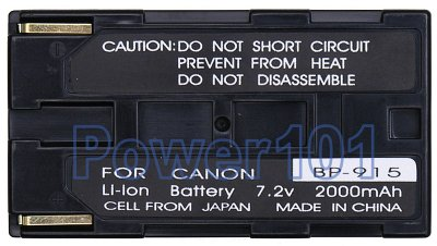 BP-915 battery for Canon Li-Ion 7.2V 2000mAh