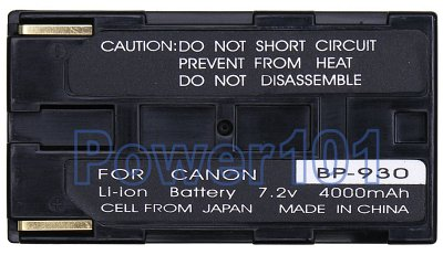 BP-930 battery for Canon Li-Ion 7.2V 4000mAh