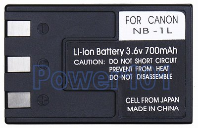 NB-1L battery for Canon Li-Ion 3.6V 700mAh