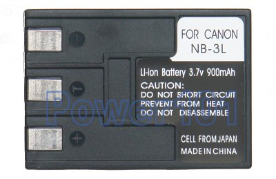 NB-3L battery for Canon Li-Ion 3.7V 900mAh
