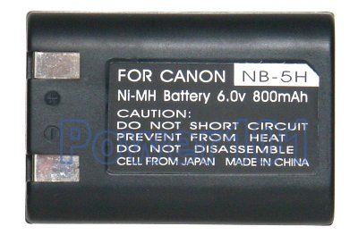 NB-5H battery for Canon Ni-MH 6.0V 800mAh