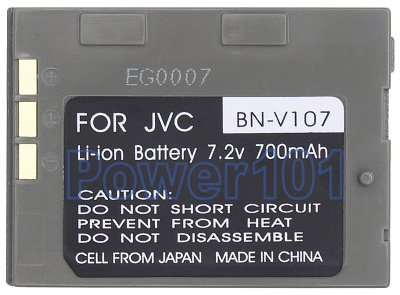 BN-V107 battery for JVC Li-Ion 7.2V 700mAh