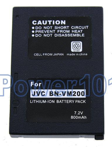 BN-VM200 battery for JVC Li-Ion 7.2V 800mAh