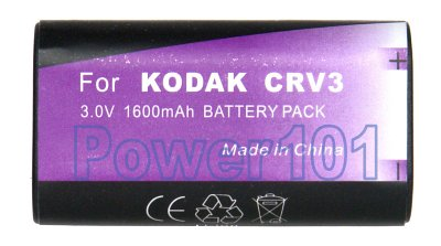 CRV3 Rechargeable Li-Ion battery 3.0V 1600mAh