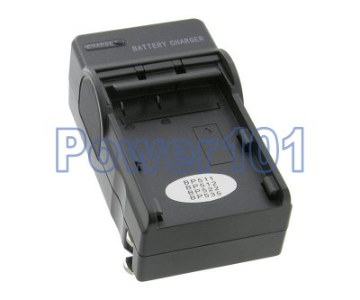 Compact Charger for Canon BP-511 BP-512 BP-522 +euro +car
