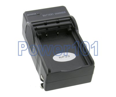 Compact Charger for Casio NP-20 +euro +car
