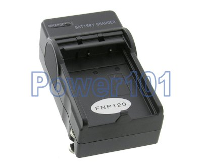 Compact Charger for FujiFilm NP-120 +euro +car