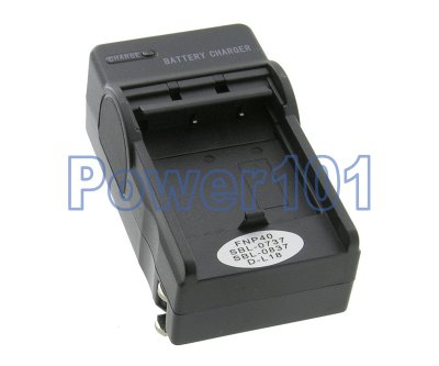Compact Charger for FujiFilm NP-40 +euro +car
