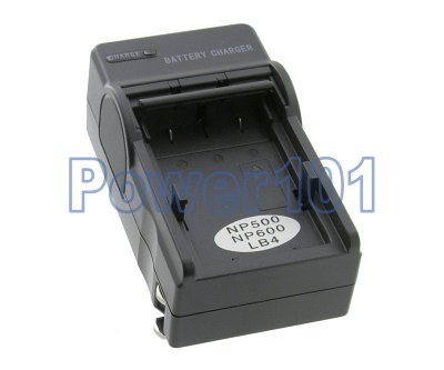 Compact Charger for Minolta NP-600 NP-500 DR-LB4 +euro +car