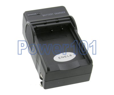 Compact Charger for Nikon EN-EL8 +euro +car