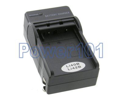 Compact Charger for Olympus Li-40B Li-42B +euro +car