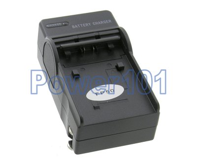Compact Charger for Sony FP50 FP70 FP90 +euro +car