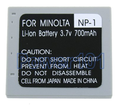 NP-1 battery for Minolta Li-Ion 3.7V 700mAh