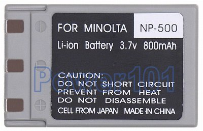 NP-500 battery for Minolta Li-Ion 3.7V 800mAh