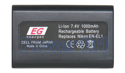 EN-EL1 battery for Nikon Li-Ion 7.2V 900mAh