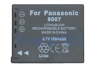 CGA-S007 battery for Panasonic Li-Ion 3.7V 1200mAh