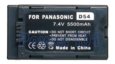 CGR-D54 battery for Panasonic Li-Ion 7.4V 5500mAh