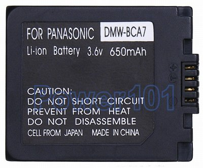 DMW-BCA7 / S001 battery for Panasonic Li-Ion 3.6V 650mAh