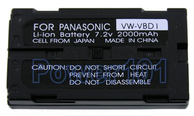 VW-VBD1 B202 battery for Panasonic Li-Ion 7.2V 2000mAh