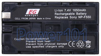 NP-F550 battery for Sony Li-Ion 7.4V 1650mAh