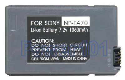 Sony NPFA70 camcorder battery