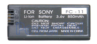 NP-FC10/FC11 battery for Sony Li-Ion 3.6V 850mAh