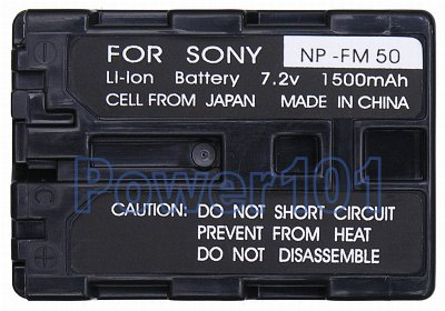 NP-FM50 battery for Sony Li-Ion 7.2V 1500mAh