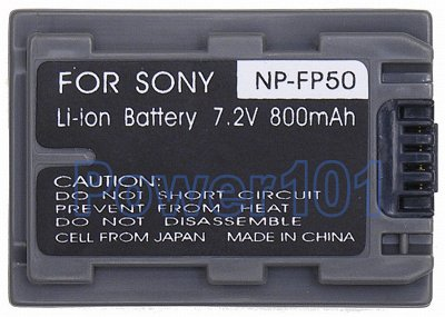 NP-FP50 battery for Sony Li-Ion 7.2V 800mAh