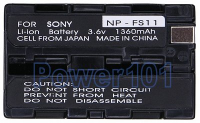 NP-FS11/FS10 battery for Sony Li-Ion 3.6V 1360mAh