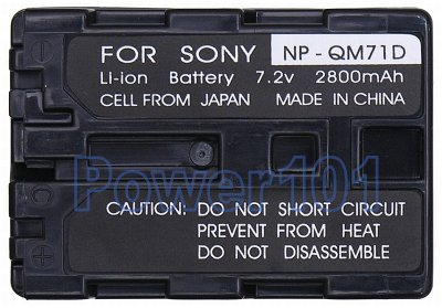 NP-QM71D battery for Sony Li-Ion 7.2V 2800mAh WITH LED