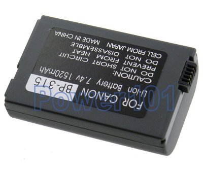 Canon IXY DV M180N BP-315 Camcorder Battery
