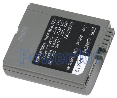 BP-412 battery for Canon Li-Ion 7.4V 1400mAh