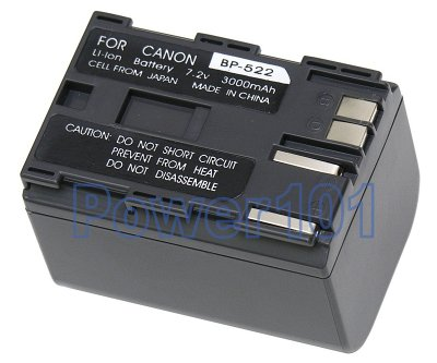 Canon DM-MV238JH BP-522 Camcorder Battery