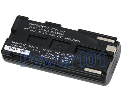 BP-608 battery for Canon Li-Ion 7.4V 750mAh