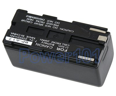 BP-617 battery for Canon Li-Ion 7.2V 2000mAh