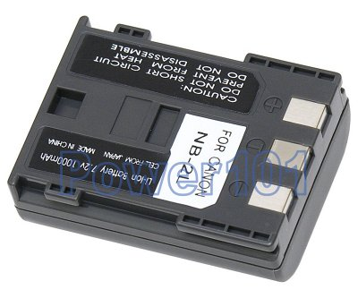 NB-2L NB-2LH battery for Canon Li-Ion 7.2V 1000mAh
