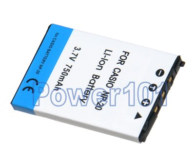 NP-20 battery for Casio Li-Ion 3.7V 750mAh