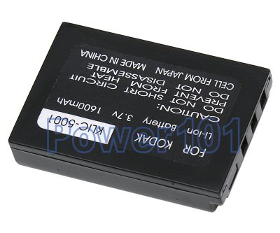 Klic-5001 battery for Kodak Li-Ion 3.7V 1600mAh