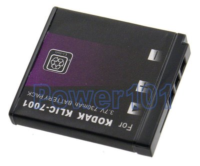 Klic-7001 battery for Kodak Li-Ion 3.7V 730mAh