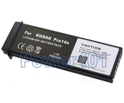 Pro14n battery for Kodak SLRs Li-Ion 7.2V 1600mAh