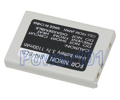 EN-EL5 battery for Nikon Li-Ion 3.7V 1100mAh