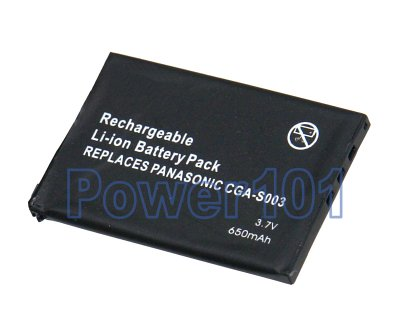 CGA-S003 VBA05 battery for Panasonic Li-Ion 3.7V 650mAh