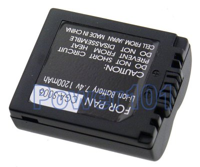 Panasonic Lumix DMC-FZ30 CGA-S006 Camera Battery