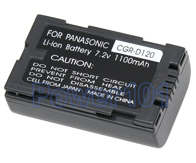 CGR-D120 battery for Panasonic Li-Ion 7.2V 1100mAh