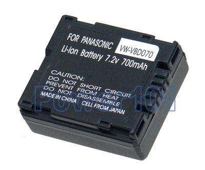 Hitachi DZBP07 camcorder battery